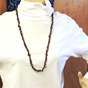 Jewelry - Dark Red Long Necklace about 34 inches long